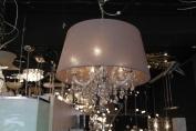 Hanglamp Kristal met stoffen kap